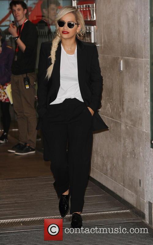 Rita Ora seen leaving BBC Studios