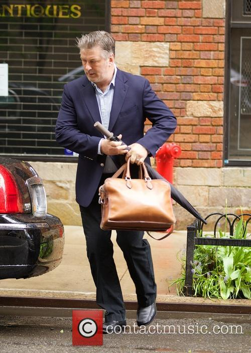 Alec Baldwin leaving his apartment