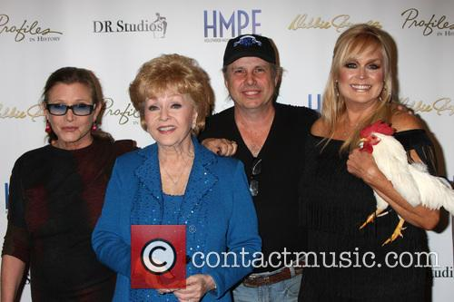 Carrie Fisher, Debbie Reynolds, Todd Fisher and Catherine Hickland 5
