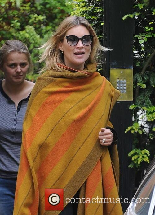 Kate Moss seen leaving her North London house