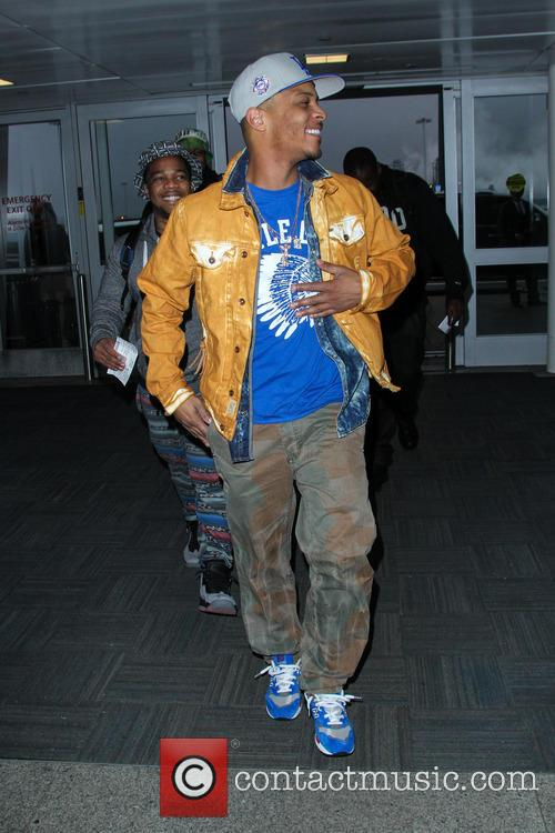 Rapper T.I. arriving at JFK