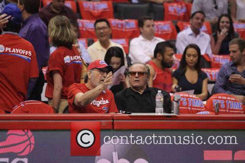 Celebrities courtside at the Los Angeles Clippers NBA...