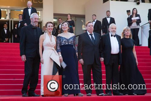 Dick Pope, Dorothy Atkinson, Marion Bailey, Timothy Spall, Mike Leigh and Georgina Lowe 3