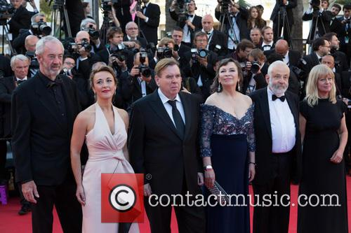 Dick Pope, Dorothy Atkinson, Marion Bailey, Timothy Spall, Mike Leigh and Georgina Lowe 4