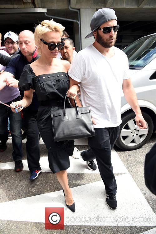 Pamela Anderson and Ricky Salomon