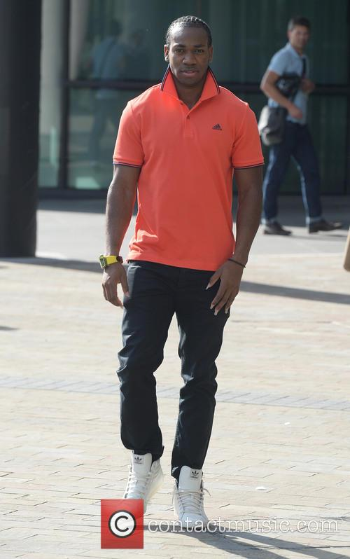 Celebrities outside BBC Media City in Manchester