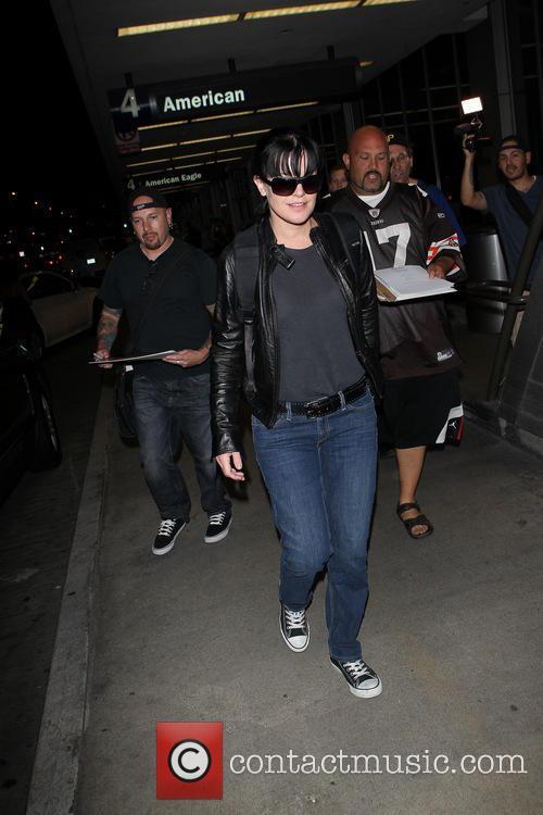 Pauley Perrette arriving at Los Angeles International (LAX)...