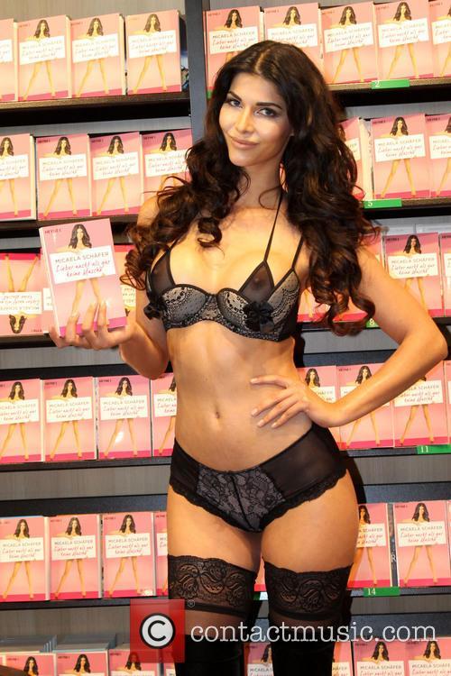 Micaela Schaefer promotes her book 'Lieber nackt als...