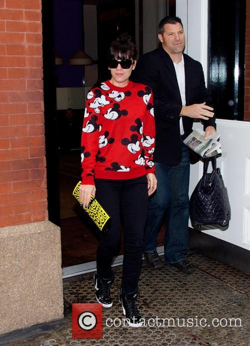 Lily Allen leaving hotel