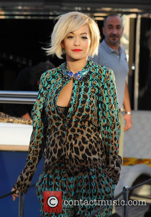 Rita Ora on Roberto Cavalli's yacht