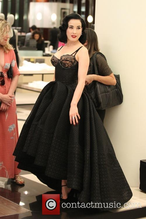 Dita Von Teese launches her new lingerie collection at Bloomingdale's