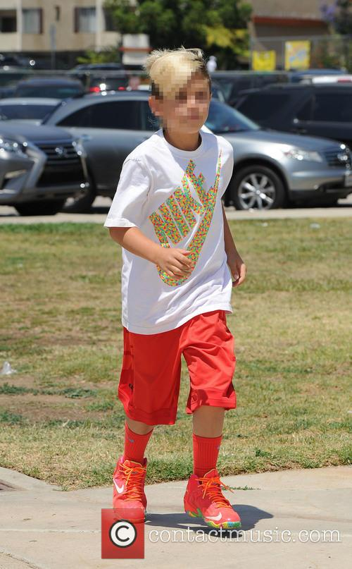 Gwen Stefani attends her son's soccer game with...