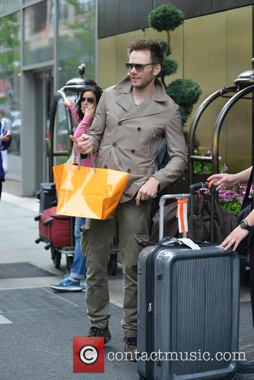 Joel McHale shopping in New York
