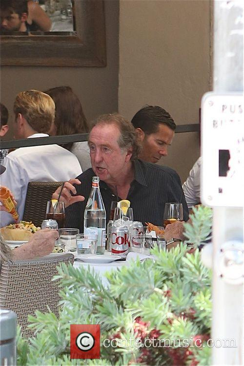 Eric Idle of Monty Python fame enjoys lunch