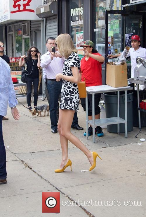 Taylor Swift spotted on Bowery in New York...