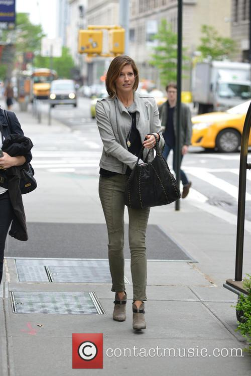 Tricia Helfer leaving her hotel in New York