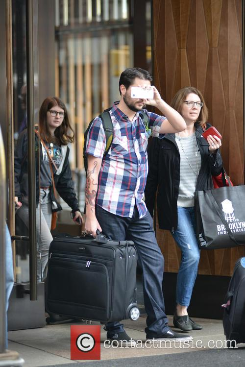 Wil Wheaton leaving his hotel in New York