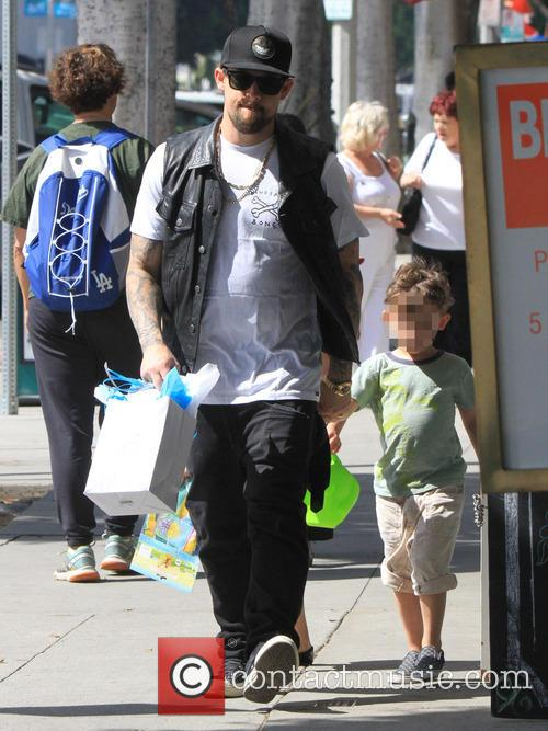Joel Madden takes his kids to a party