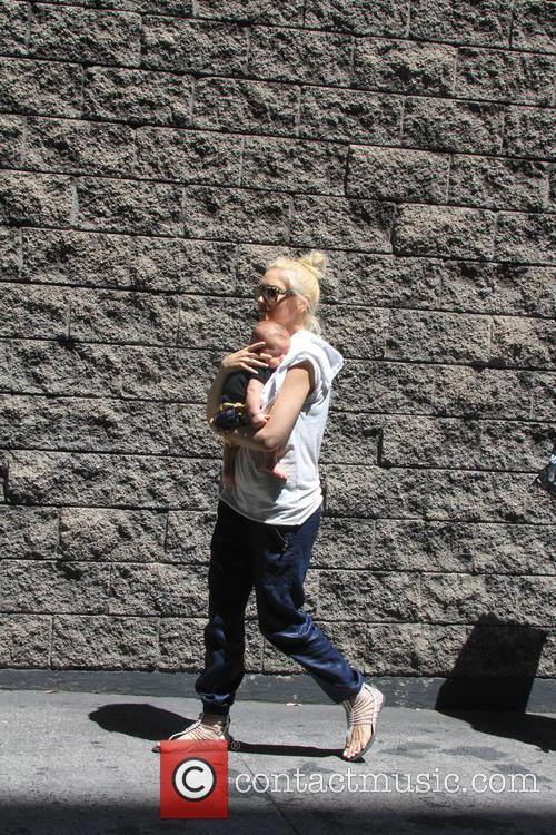 Gwen Stefani heads to her son Kingston's soccer...