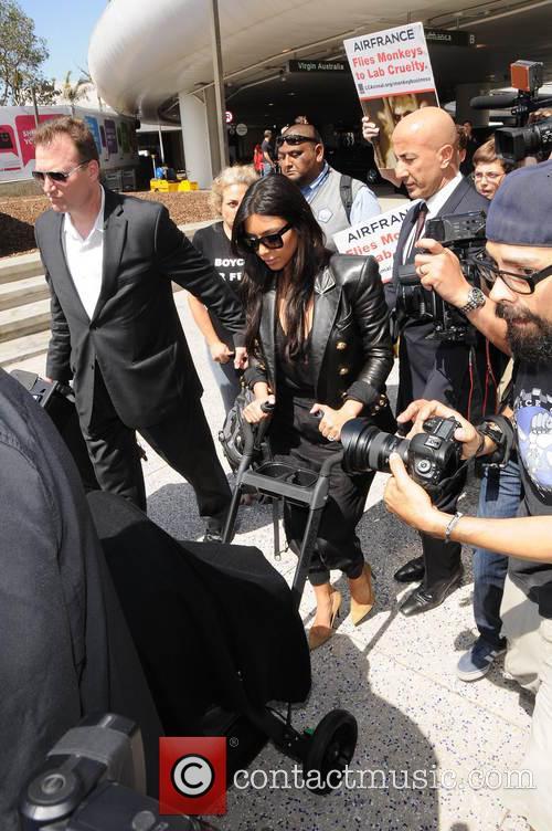 Kim Kardashian and North West 2