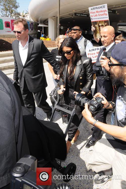 Kim Kardashian and North West 7