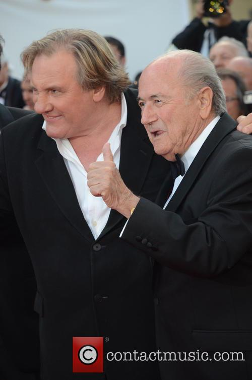 Gerard Depardieu and Sep Blatter 1
