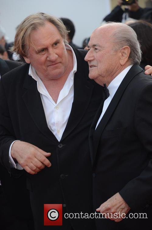 Gerard Depardieu and Sep Blatter 2