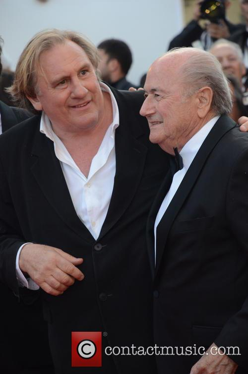 Gerard Depardieu and Sep Blatter 5