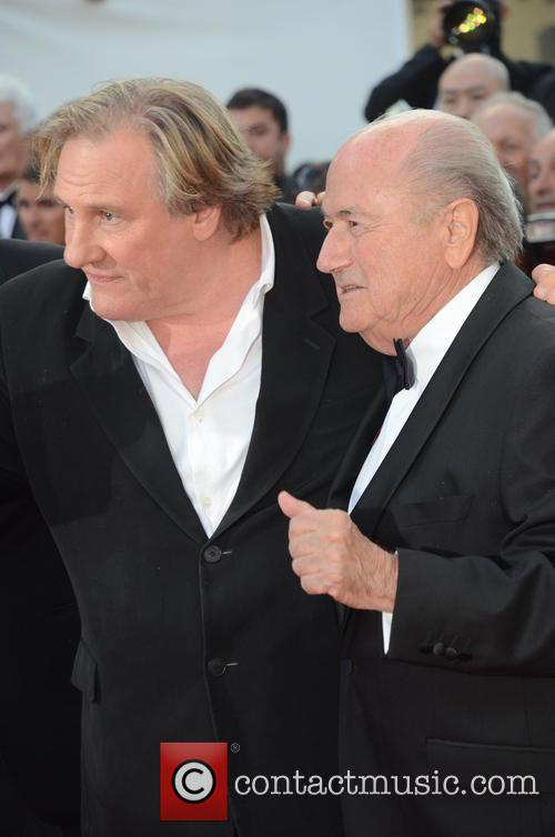 Gerard Depardieu and Sep Blatter 6