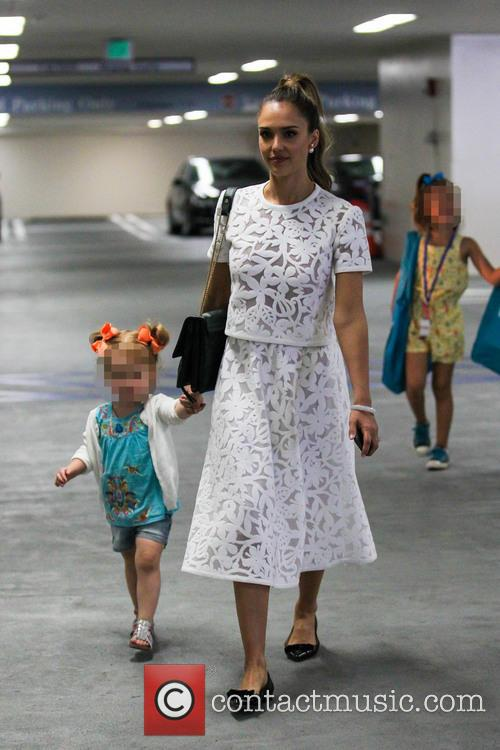 Jessica Alba And Family At Hammer Museum