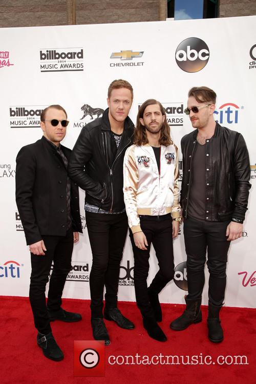 Ben Mckee, Dan Reynolds, Wayne 'wing' Sermon, Daniel Platzman and Imagine Dragons 1