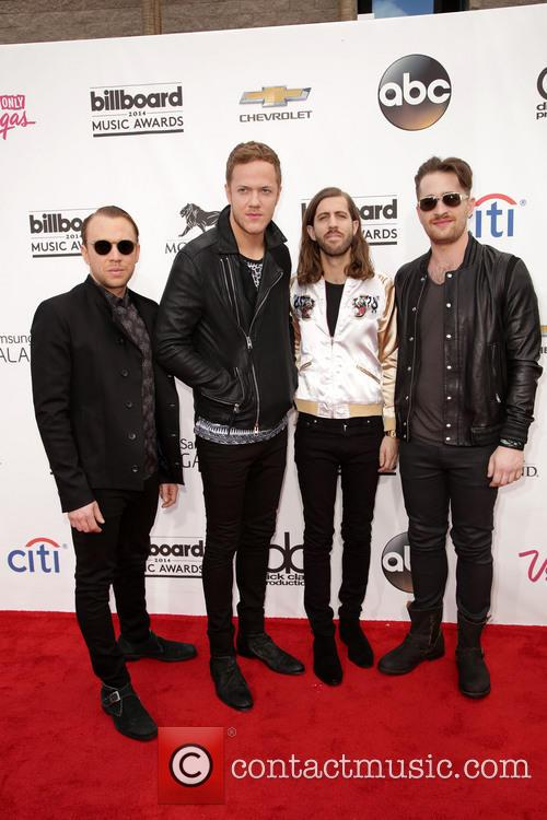Ben Mckee, Dan Reynolds, Wayne 'wing' Sermon, Daniel Platzman and Imagine Dragons 2