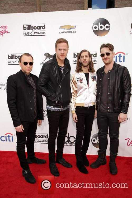 Ben Mckee, Dan Reynolds, Wayne 'wing' Sermon, Daniel Platzman and Imagine Dragons 3