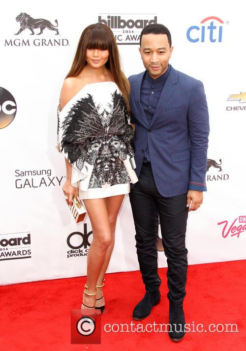 christine teigen john legend 2014 billboard awards red 4206868