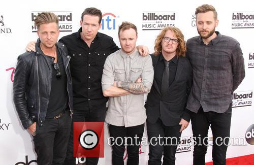 Ryan Tedder, Zach Filkins, Eddie Fisher, Drew Brown and And Brent Kutzle Of Onerepublic 3