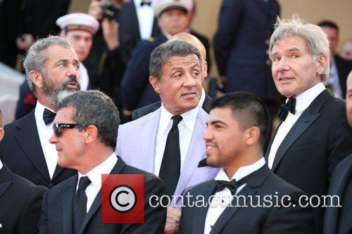 Mel Gibson, Antonio Banderas, Sylvester Stallone and Victor O 2