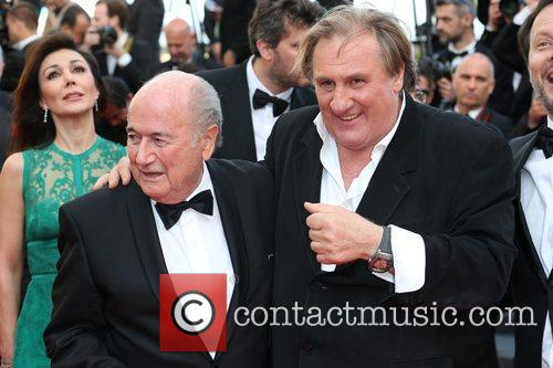 Gerard Depardieu and Sepp Blatter