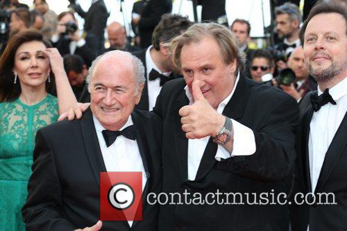 Gerard Depardieu, Sepp Blatter, Cannes Film Festival