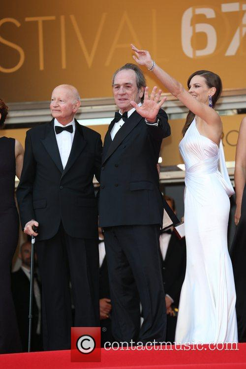 Gilles Jacob, Tommy Lee Jones and Hilary Swank