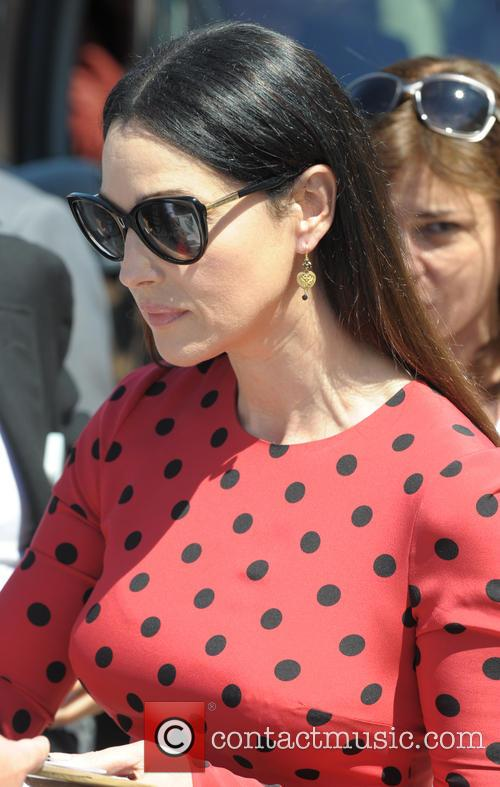 Monica Bellucci arriving for Le Meranviglie Photocall