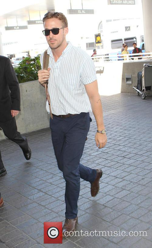 Ryan Gosling at Los Angeles International (LAX) Airport