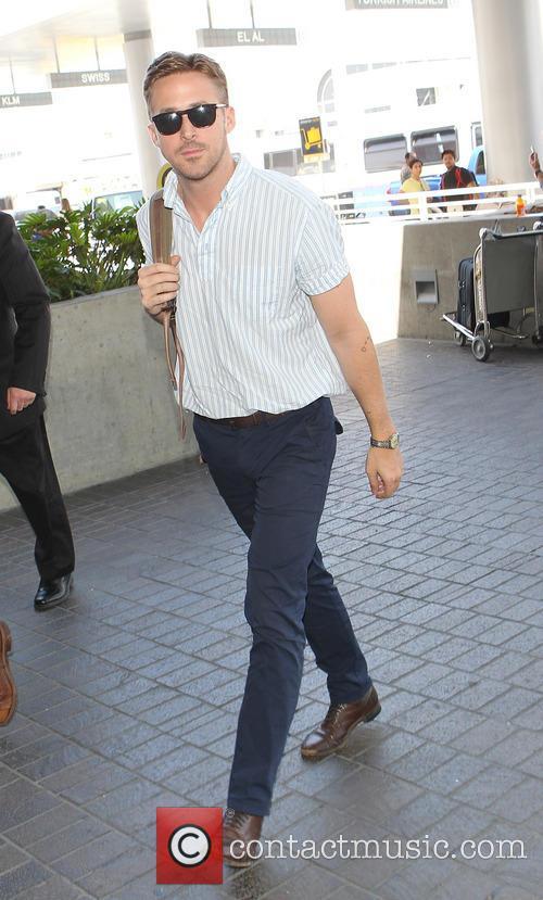 Ryan Gosling at Los Angeles International (LAX) Airport