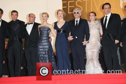 Robert Pattinson (l-r), Martin Katz, Sarah Gadon and Mia Wasikowska