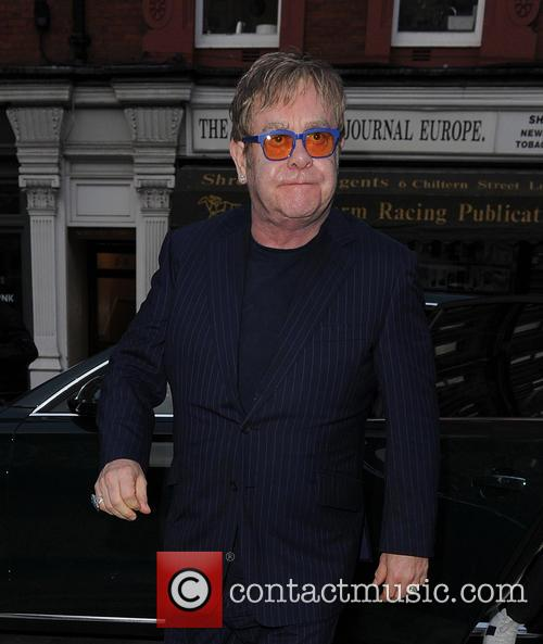 Elton John seen at Chiltern Firehouse