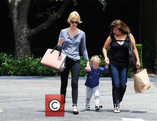 January Jones At Lunch At Houston's