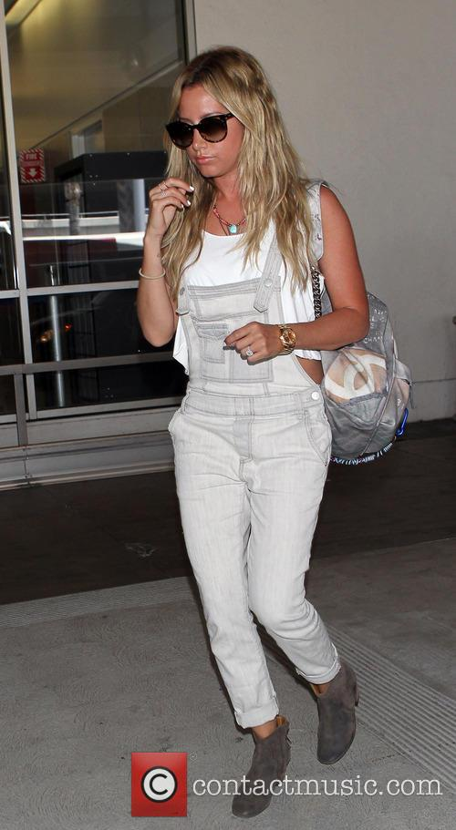 Ashley Tisdale arrives at LAX