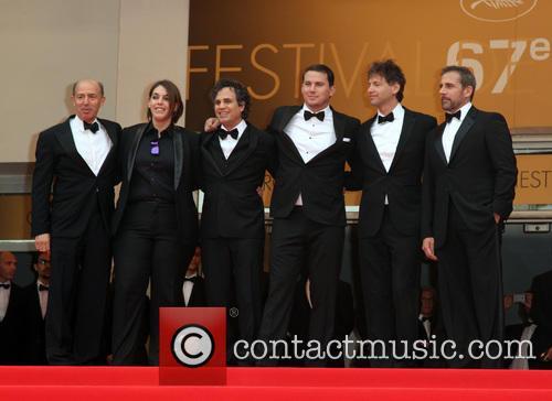 Jon Kilik, Megan Ellison, Mark Ruffalo, Channing Tatum, Bennett Miller and Steve Carell 1