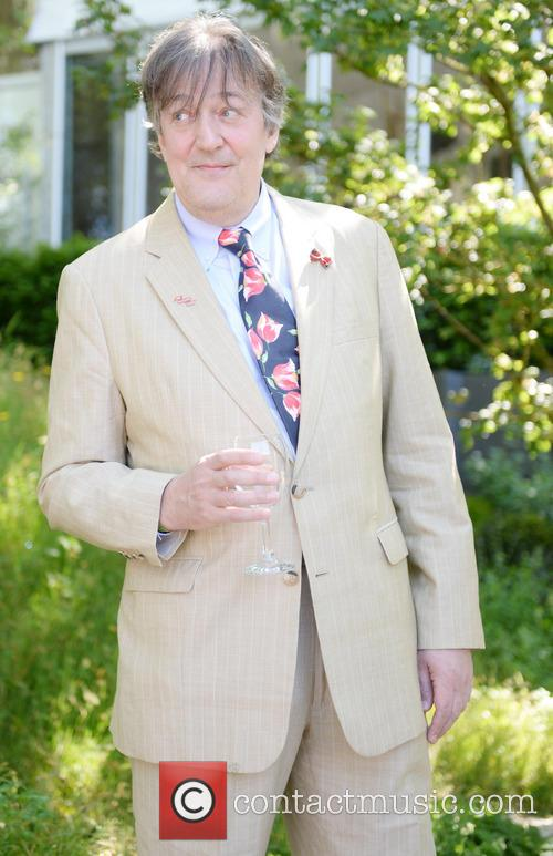 stephen fry chelsea flower show vip and 4203871