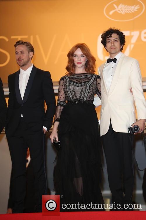 Ryan Gosling, Christina Hendricks and Geoffrey Arend