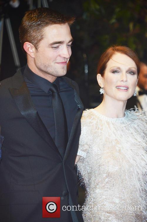 Robert Pattinson and Julianne Moore at the Maps to the Stars Cannes premiere, 2014